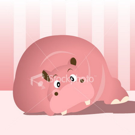 wallpaper cute pink. Cute Pink Hippo